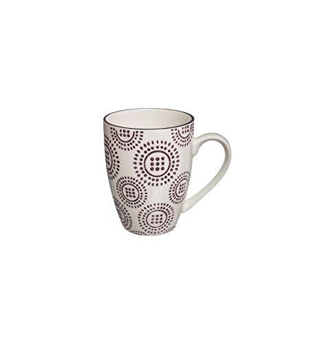 Mug Camila - 34 Cl - Aubergine Et Blanc