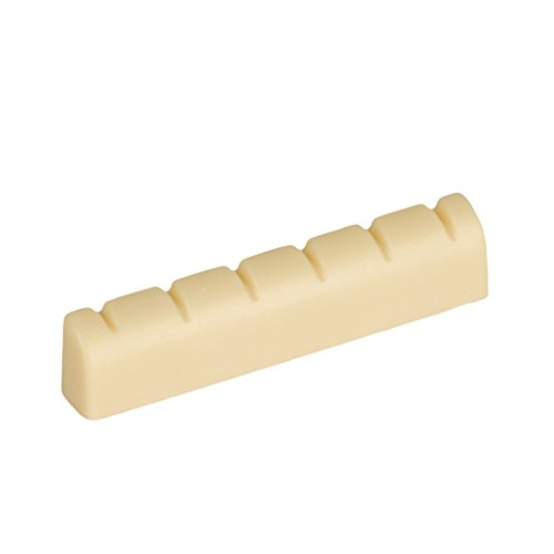 Seismic Audio Replacement Flat Bottom Guitar Nut-Pre-Grooved Universal Fit (SA-SNR1)