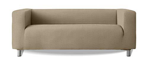 Funda de sofá Modelo Klippan Brazos Sofa Altos Tejido elástico Suave New York - Color 18 Beige Oscuro
