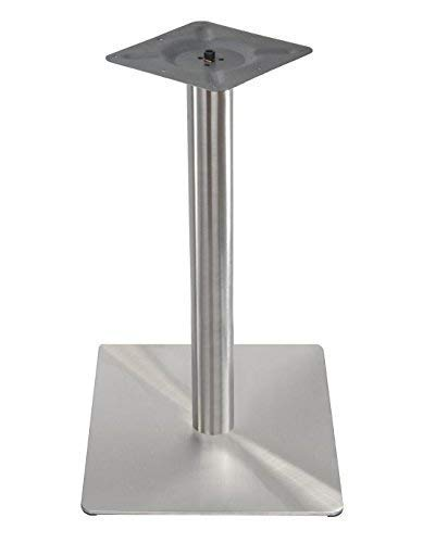 Tischgestell Single Edelstahl Quadratisch 45 x45 cm Untergestell Tischfuß Bistrotisch Bistro Gastro Tisch