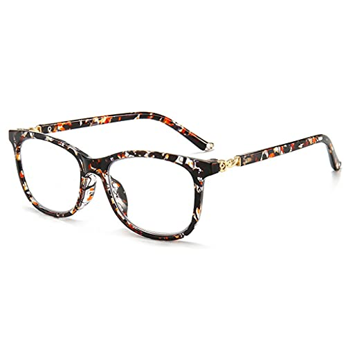 Gafas de Lectura Gafas con Filtro de luz Azul para Hombres y Mujeres Retro con bisagra de Resorte Redonda y Lentes antideslumbrantes Gafas de Ayuda a la Lectura