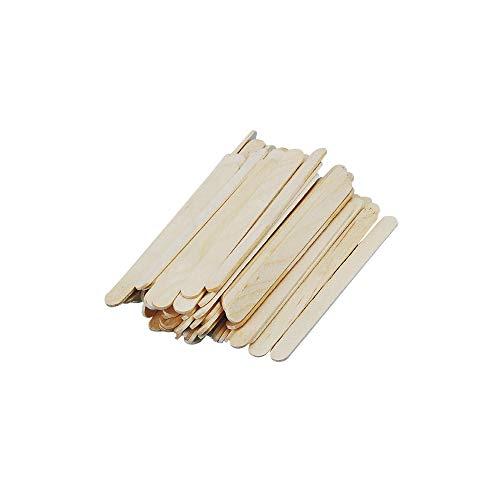 Rayher 6121731 Bastelhölzer, 110 mm x 11 mm, 72 Stück, natur, Holzspatel zum Basteln, Holzstiele
