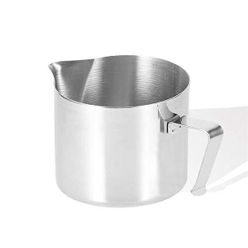 FIDON Jarra de acero inoxidable para vaporizar leche en maquina espresso. Jarra para espumar leche. (250ml)