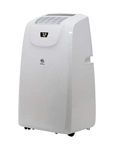 AireMax Heat/Cool Portable Air Conditioner with Remote Control for Rooms up to 500 Sq. Ft, White