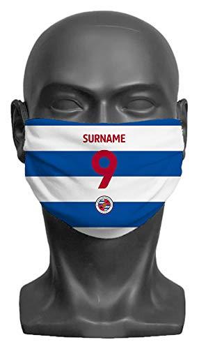 Personalised Reading FC Back Of Shirt Adult Face Mask- Large