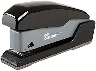 Staples 1798849 One Touch Compact Desktop Stapler Half Strip Capacity Black 44431 product image