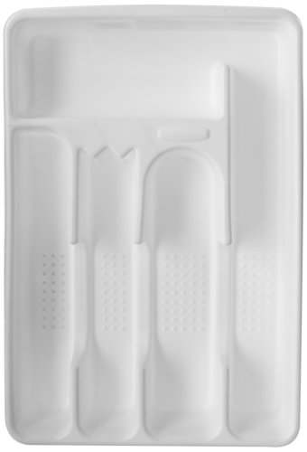 Rubbermaid Cutlery Tray Silverware Organizer (Small, White) $2 + Free Shipping w/ Prime or on $25+