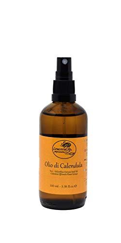 Olio di Calendula - 100 ml - Indicato per cicatrici, ragadi, screpolature, arrossamenti e scottature. Nutriente e lenitivo per pelli sensibili e delicate.