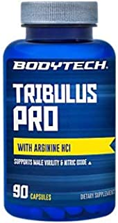 BodyTech Tribulus Terrestris with Avena Sativa LArginine 750 MG of Each for Men's Health, 30 Servings (90 Capsules)