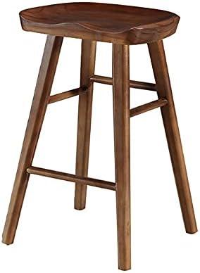 Reservation YJKDM Bar Chair Log Household Solid Dining Stool Tabl Ranking TOP16 Wood bar
