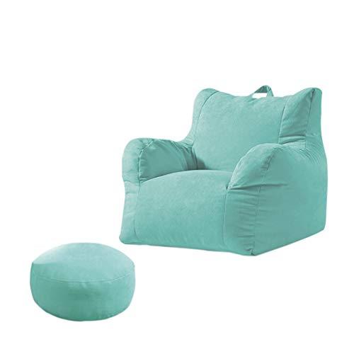 SD Un Pouf Sac de Haricots canapé Grande Fauteuil Fauteuil Confortable Durable avec Repose-Pied pour Enfants et Adultes L: 70 * 70 * 60cm XL: 70 * 80 * 60cm