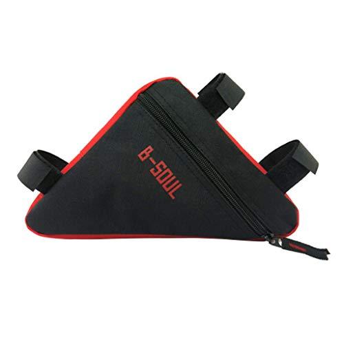 Fahrradtasche Rahmen Dreiecktasche wasserdicht -Triangle Bag Fahrradaufbewahrung Rahmentasche, wasserdicht Radfahren Pack-On-Satteltasche Fahrradzubehör Werkzeug für Alle Fahrräder (Rot)