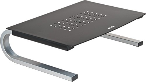 Allsop 6480 Redmond Computer Monitor/Laptop Stand with Non-Slip Feet in Grey & Silver