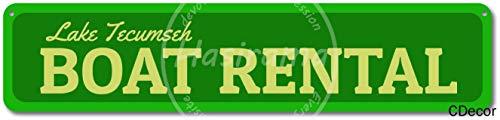 niet Boot Verhuur Tin Wandbord Metalen Retro Poster Iron Waarschuwingsborden Vintage Opknoping Art Plaque Yard Garden Cafe Bar Pub Openbaar Gift 16X4 Inch