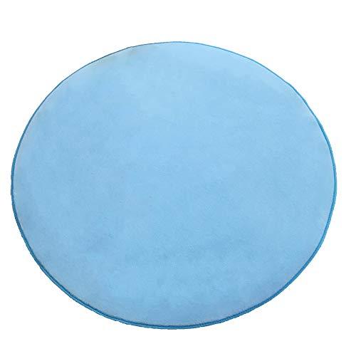 Zorazone Runde Matten für Kinder Spielhaus Teppich rund 100cm kinderzelt runde matten für spielhaus Kinder Spielhaus-Pad Hellblau Korallen Fleece (100cm Rund Hellblau)