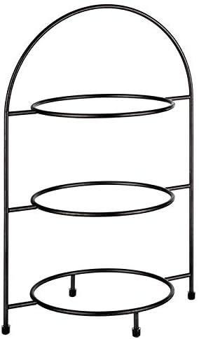 """APS Serviergestell """"Industrial"""", Etagere, Gestell aus Metall für 3 Teller max. Ø 27 cm, innerer Ring Ø 18 cm, Größe 19,5 x 29 cm, Höhe 43 cm, Antirutsch-Füßchen (Teller Nicht enthalten)"""