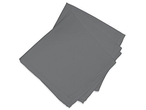 Soleil d'ocre 838233 ALIX Lot de 3 Serviettes de table Polyester Anthracite 40x40 cm