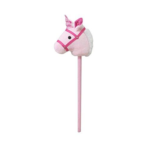 solini Steckenpferd Einhorn mit Sound Steckeneinhorn mit Pferde-Geräusch rosa/pink/weiß