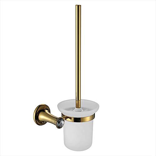 Oro porta scopino di cristallo accessori per il bagno,Metallico
