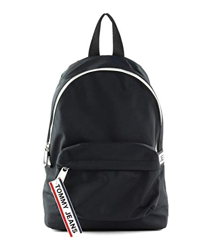 Tommy Hilfiger TJW Logo Tape Mini Backpack NYL Black