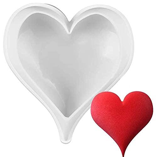 シリコン型 シリコンモールド ムース型 ベーキング チョコレート型 お菓子 ケーキ 金型 3D抜き型 DIY 8穴 製菓道具 ホワイト フィナンシェ 立体的な愛の心型