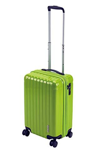 キャプテンスタッグ(CAPTAIN STAG) スーツケース キャリーケース キャリーバッグ 超軽量 TSAロック ダブルホイール 360度回転 静音 ダブルファスナータイプ 機内持込 Sサイズ エアーグリーン パルティール UV-81