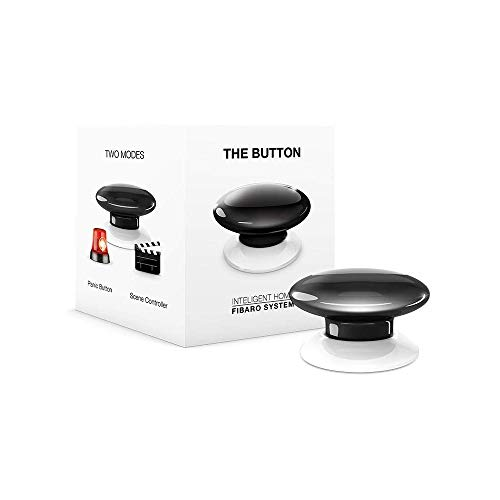 FIBARO FIBEFGPB-101-2 Black The Button, 3,6 V, zwart