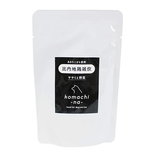 komachi-na- あきたこまち使用 比内地鶏雑炊 ささみと野菜 犬用 80g
