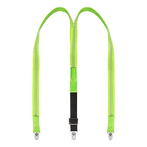 Aissy 25mm Light Up LED Hosenträger für Herren und Damen Grün