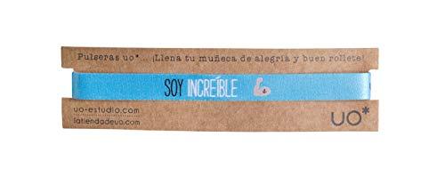 UO-Pulsera Estampado Soy increible, Color Azul