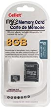 Cellet 8GB MicroSD for Canon PowerShot G12 Camera custom flash memory, high-speed transmission, plug and play, with Full Size SD Adapter. (Retail Packaging)