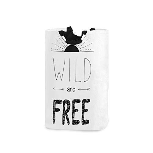 ZOMOY Multifunktionale Faltbarer Schmutzige Kleidung Wäschekorb,Abstrakte Hand gezeichnete aufgehende Sonne Figur Pfeile Wild Free Forest Sketch Art Design,Household Wäschebox Spielzeug Organizer
