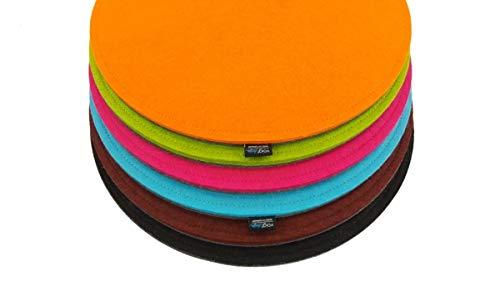 VOIGTdesign Filz-Sitzauflage - Stuhlauflage - Sitzkissen - Stuhlkissen - Auflage - rund - bi-Color - 2-lagig (D 40 cm, 104 pink)