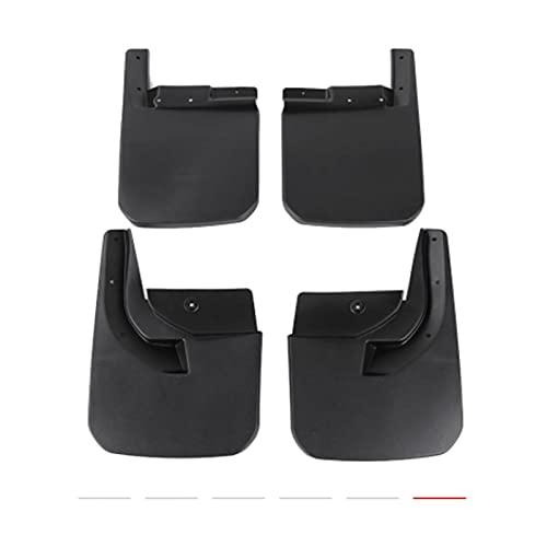 YSKG Coche Mudflaps para Jeep para Wrangler JL 2018-2020 Splash Guard Flap Fender Fangar Flap Auto Accesorios Frente Trasero 4pcs Guardabarros