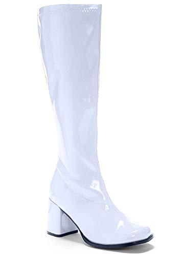 Ellie Shoes Women's Knee High Boot Fashion, White Matte, 10