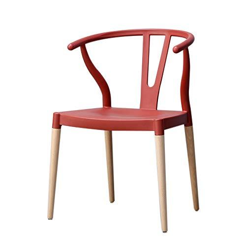 Stoel, huis met rugleuning met armleuningen eetkamerstoel Nordic minimalistische massief houten ringstoel