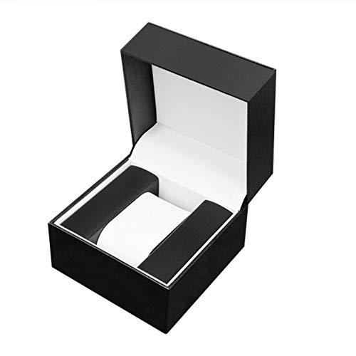 Montloxs Caja de Reloj Individual con Almohada Cuero de PU Reloj de Lujo Caja de Regalo Reloj de Pulsera Vitrina Relojes Embalaje Cuadrado Cajas abatibles para Hombres Navidad Cumpleaños Aniversario