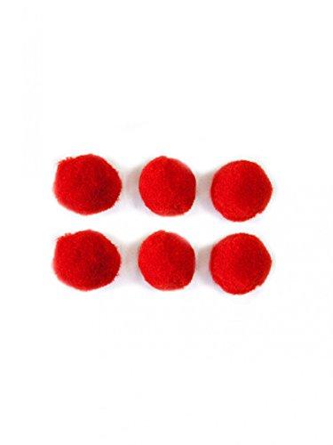Generique - 50 Mini Pompons Rouges