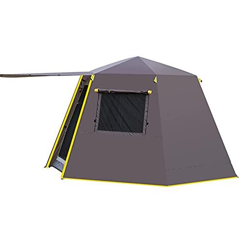 Tienda de campaña familiar para 3 a 4 personas, carpa automática, carpa portátil, para camping, senderismo, montañismo (color café, tamaño: 3)