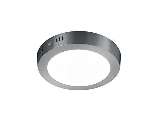 Preisvergleich Produktbild Trio Leuchten LED-Deckenleuchte Cento,  nickel matt / acryl weiß,  657011207