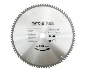 YATO YT-6083 TCT-lame bois 350 x 84 x 30 mm