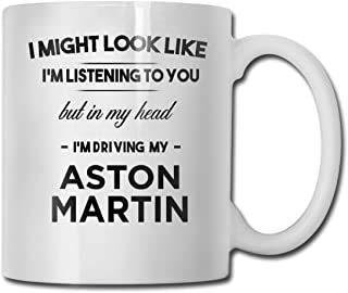 Not Applicable Estoy conduciendo mi Taza de café Divertida Aston Martin - Taza de cerámica de 11 onzas - Regalos de Novedad para Navidad, San Valentín, Día del Padre, Taza del día de la Madre