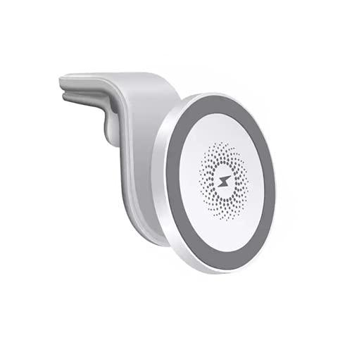 Cargador de automóvil inalámbrico magnético, un cargador de automóvil inalámbrico rápido de 15W para iPhone 12 Mini 12 Pro Max, un soporte de automóvil ventilado