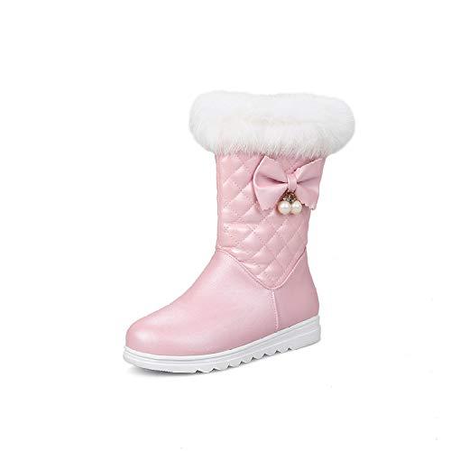 MEILISHOE Herbst und Winter Mädchen Stiefel in der Röhre Prinzessin sowie Samt Kinder Schneeschuhe Baumwolle Kurze Stiefel Kinderschuhe in...