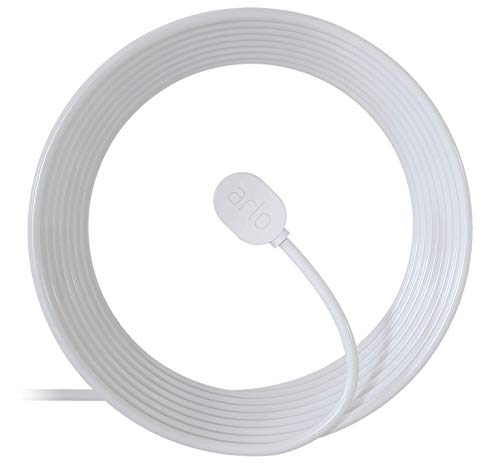 Price comparison product image Arlo Certified Accessory - Outdoor Magnetic Charging Cable - 25 ft,  Weather Resistant Connector,  Compatible with Arlo Ultra,  Ultra 2,  Pro 3,  Pro 4 and Pro 3 Floodlight Cameras,  White - VMA5600C
