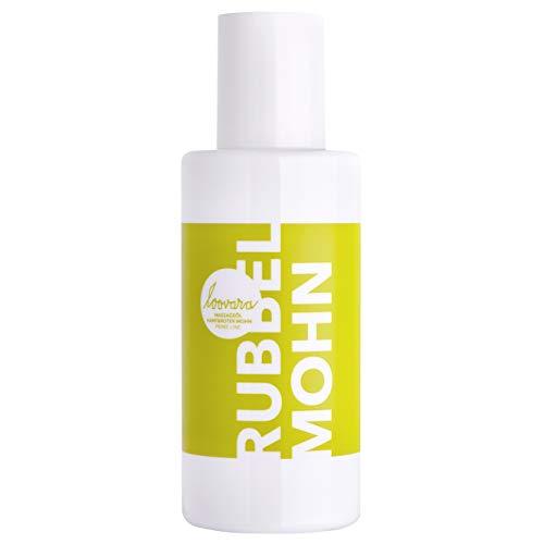 Loovara RUBBEL MOHN – Premium Massage-Öl I Mit entspannendem Hanf-Öl & rotem Mohn für sinnliche Relax-Massagen I 100% vegan, natürlich & mikroplastikfrei I Made in Germany I 100 ml