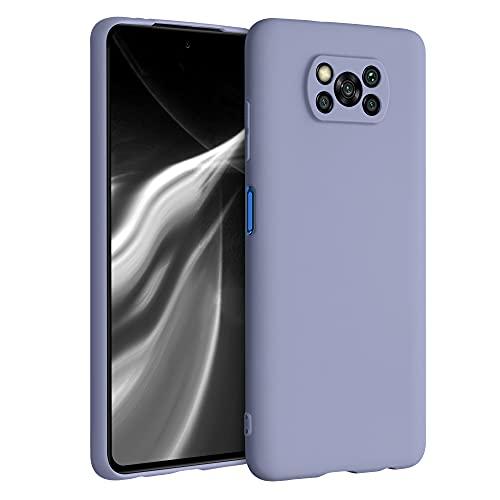 kwmobile Funda Compatible con Xiaomi Poco X3 NFC/Poco X3 Pro - Funda Carcasa de TPU Silicona - Protector Trasero en Gris Lavanda Mate