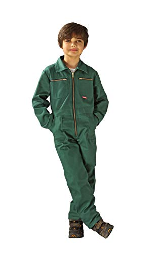 Planam Kinder Rallyekombi (Overall), Farbe: Mittelgrün, Gr: 134
