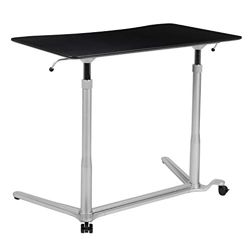 Flash Furniture Sit-Down, Stand-Up Black Computer Ergonomic Desk with 37.375'W Top (Adjustable Range 29' - 40.75')
