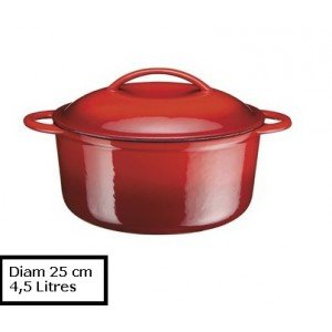 A.K TRADING Fonte COCOTTE B Ronde Rouge 25 CM 4.5L Code 0749